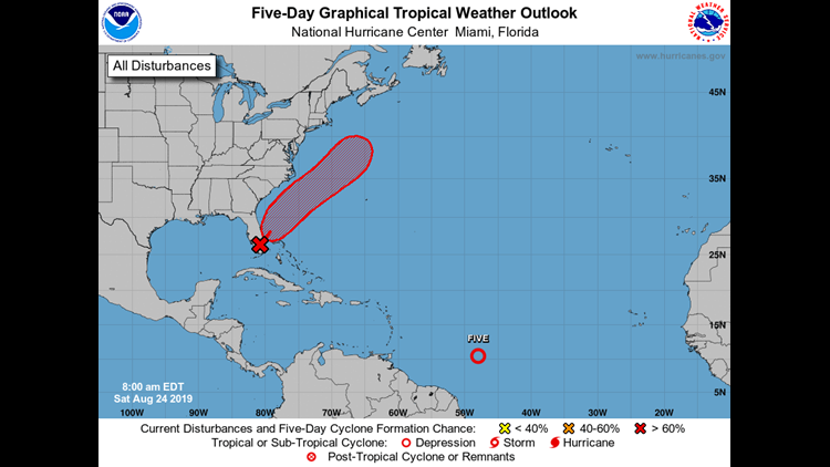 NHC Tropical Weather Outlook August 24, 2019