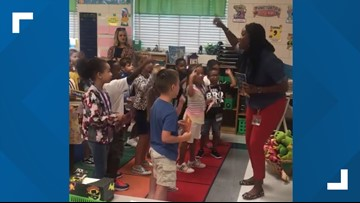 WATCH: Brunswick teacher gets first-graders excited about learning with rap remix