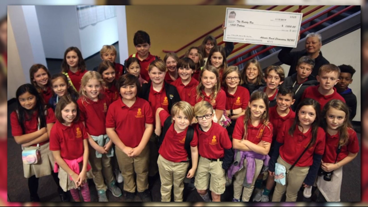 Elementary students stop by First Coast News with amazing surprise
