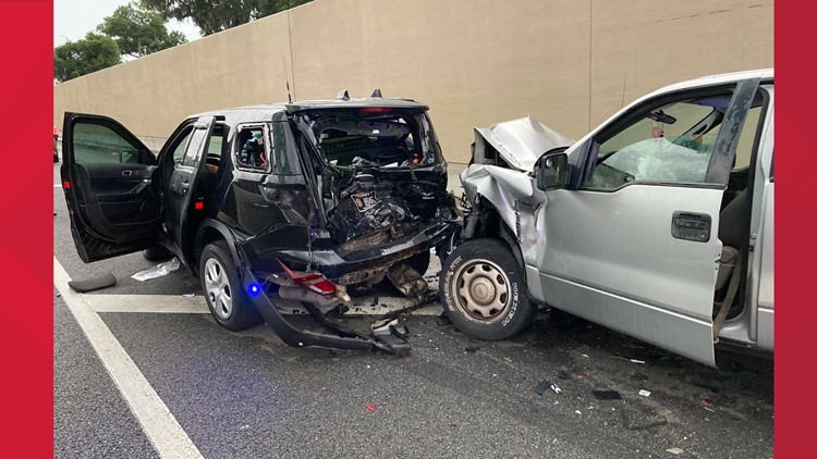 FHP trooper seriously injured during crash on Buckman Bridge, driver arrested for DUI