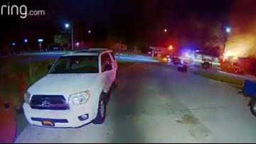 VIDEO: Dramatic doorbell video captures fire on Jacksonville's westside