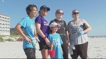 Beach clean-up, making art from trash: Dozens clean Jax Beach