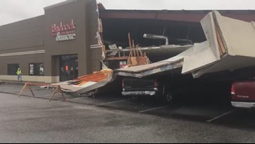 Kingsland Georgia Badcock Furniture Store Storm Damage