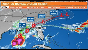 TROPICS: Gulf storm on the way; Rain Friday night and Saturday with some isolated severe storms