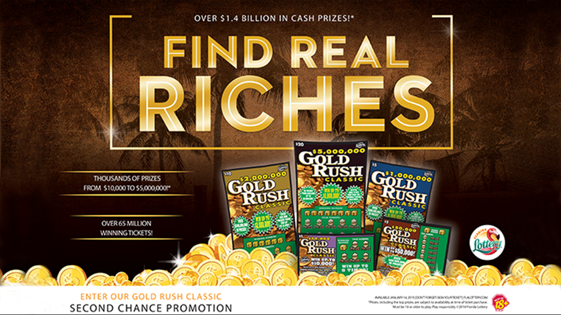 """Florida Lottery Gold Rush Classic """"Word of the Day"""" Watch and Win Promotion"""