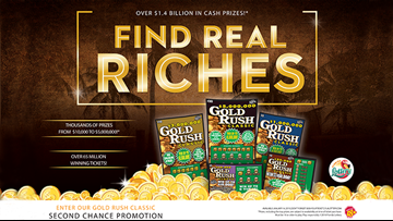 "Florida Lottery Gold Rush Classic ""Word of the Day"" Watch and Win Promotion"
