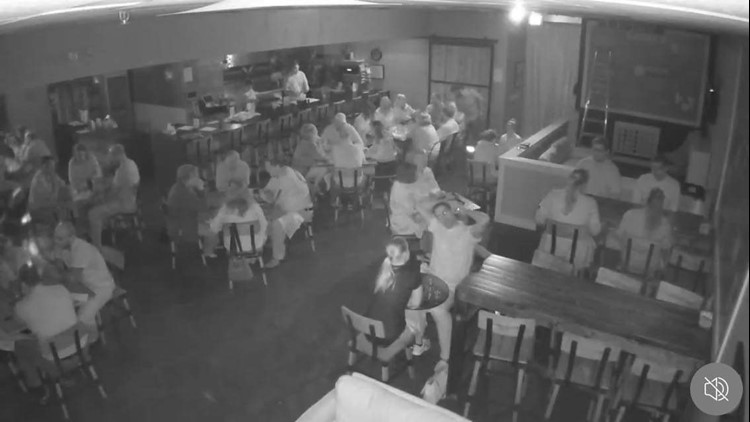 Infrared photo from dining in the dark