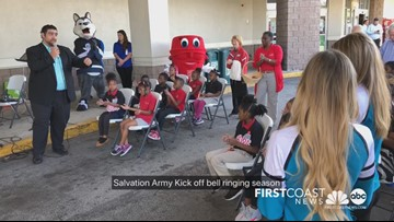 The Salvation Army kicks of Red Kettle Campaign with bell-ringing event