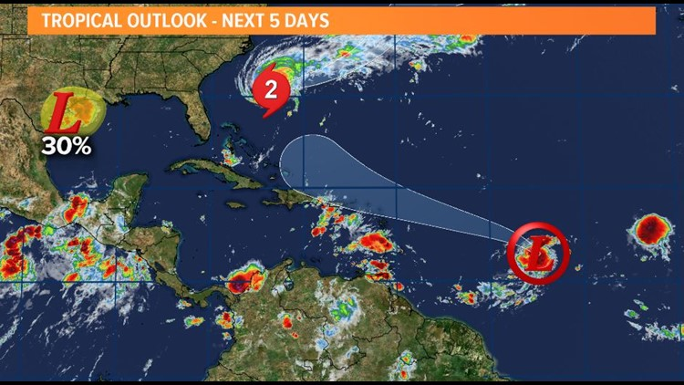The tropics are active, but there are no threats locally for at least the next week.
