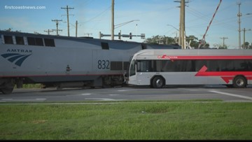 JTA bus driver fired after train crashes into bus