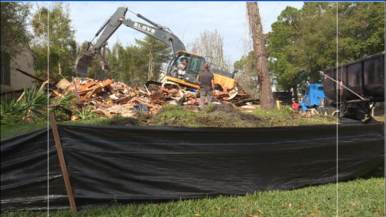 An eyesore no more; Condemned Atlantic Beach duplex demolished