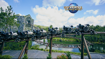 Win tickets to fly into the Forbidden Forest with Hagrid's Magical Creatures Motorbike Adventure at Universal Orlando Resort™