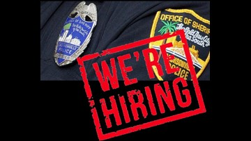 JSO hiring officers and dispatchers at April expo