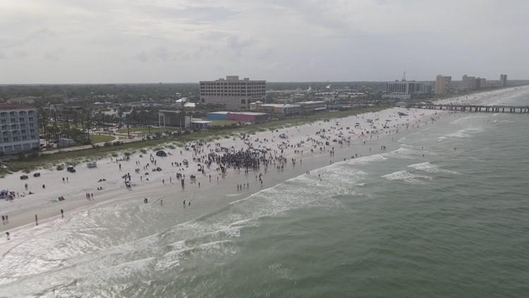 Drone footage of Orange Crush Festival on Jacksonville Beach