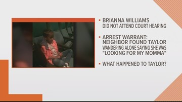 Brianna Williams faces charges of child neglect, giving false information to investigators in the case of her missing daughter
