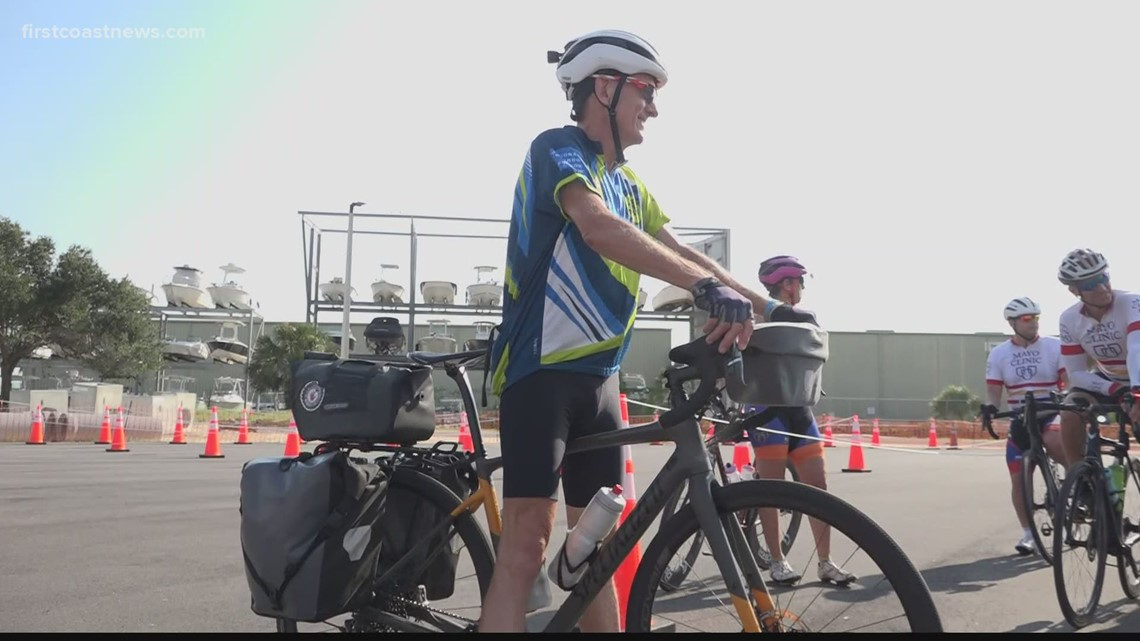 Leukemia survivor ends 3,500 bike ride in Jacksonville