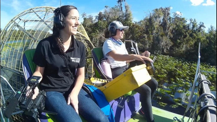 The Buzz: Mekena explores the First Coast, airboat tour
