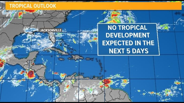 TROPICS: No threats to the First Coast for the next 5 days