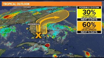 TROPICAL UPDATE: Bahamian low slowly organizing