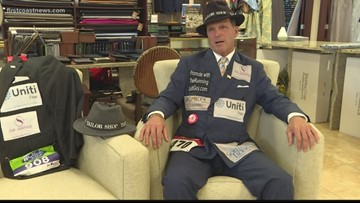 'Running Suit Guy' makes strides in the fight against breast cancer
