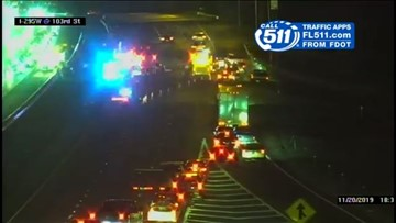 Woman killed in wreck involving motorcycle, car on I-295 NB near 103rd Street