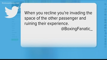Is it wrong to recline your seat on an airplane? Viewers weigh in