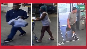 HAVE YOU SEEN THEM?   Police looking to identify three individuals for reportedly committing credit card fraud
