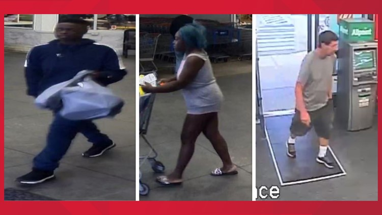 Police looking to identify three individuals for reported thefts in Jax Beach