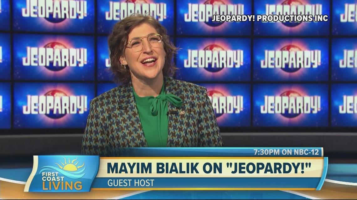 Actress, Mayim Bialik guest hosts 'Jeopardy!'