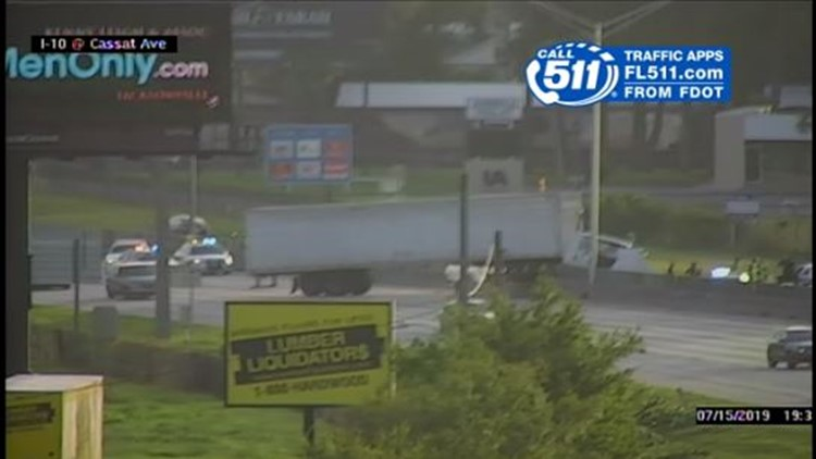 One injured in crash involving semi-truck, multiple vehicles on I-10 on the Westside