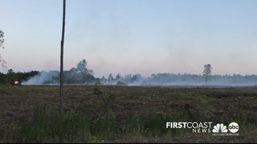 Controlled burn results in brush fire on the Westside near POW-MIA Memorial Parkway, Chaffee Road