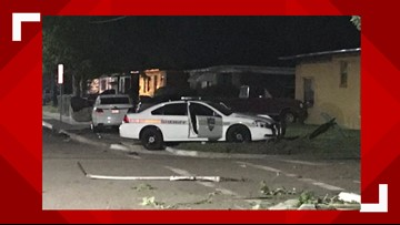 Florida man crashes into power pole, street sign and occupied police car before trying to flee