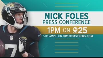 Nick Foles touches down in Jacksonville