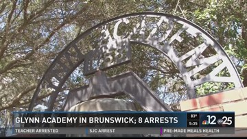 Undercover sting at Glynn Academy nets 8 arrests