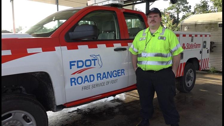 Hero on the Highway: Road Ranger pulls man from fiery crash in Jacksonville