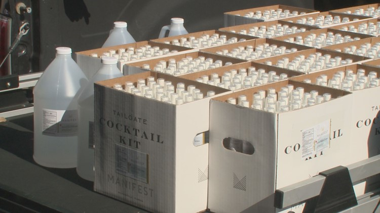 Jacksonville distillery delivers first shipment of hand sanitizer to medical professionals at Prime Osborn