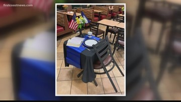 Yulee Chick-fil-A honors fallen deputy with tribute table