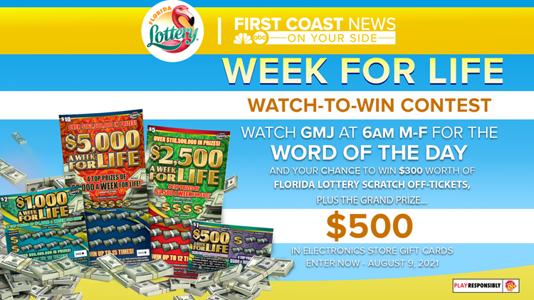 Watch GMJ For Your  Chance To Win With         The Florida Lottery
