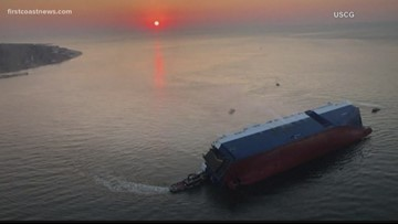 Experts worldwide gather to disassemble the Golden Ray cargo ship for removal from St. Simons Sound