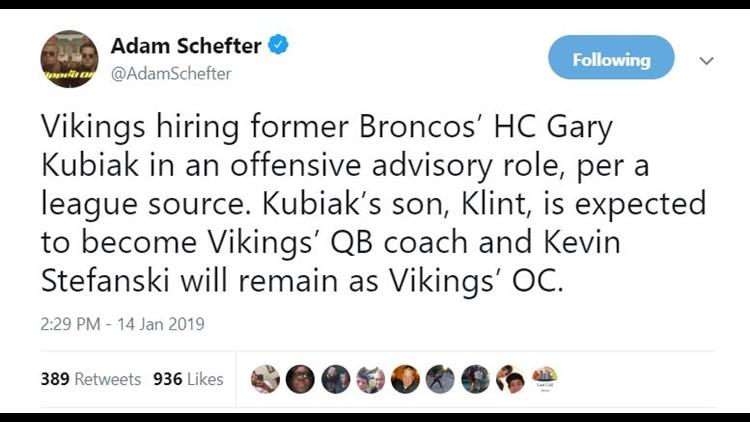 Adam Schefter tweet