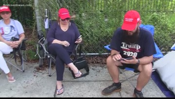 Trump supporters line up 40 hours ahead of downtown Orlando rally