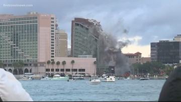 Old City Hall Annex building implosion, street closures