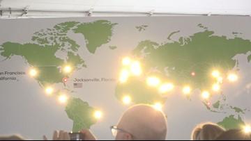 China-based solar panel company celebrates grand opening