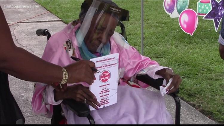 Jacksonville woman celebrates 108th birthday by voting