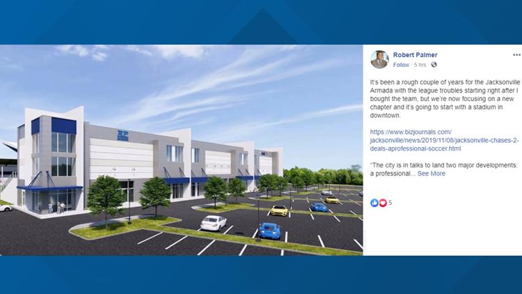 Jacksonville Armada FC owner proposes building soccer stadium