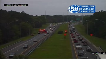 Southbound lane on I-295 reopens after crash causes traffic backup in North Jacksonville