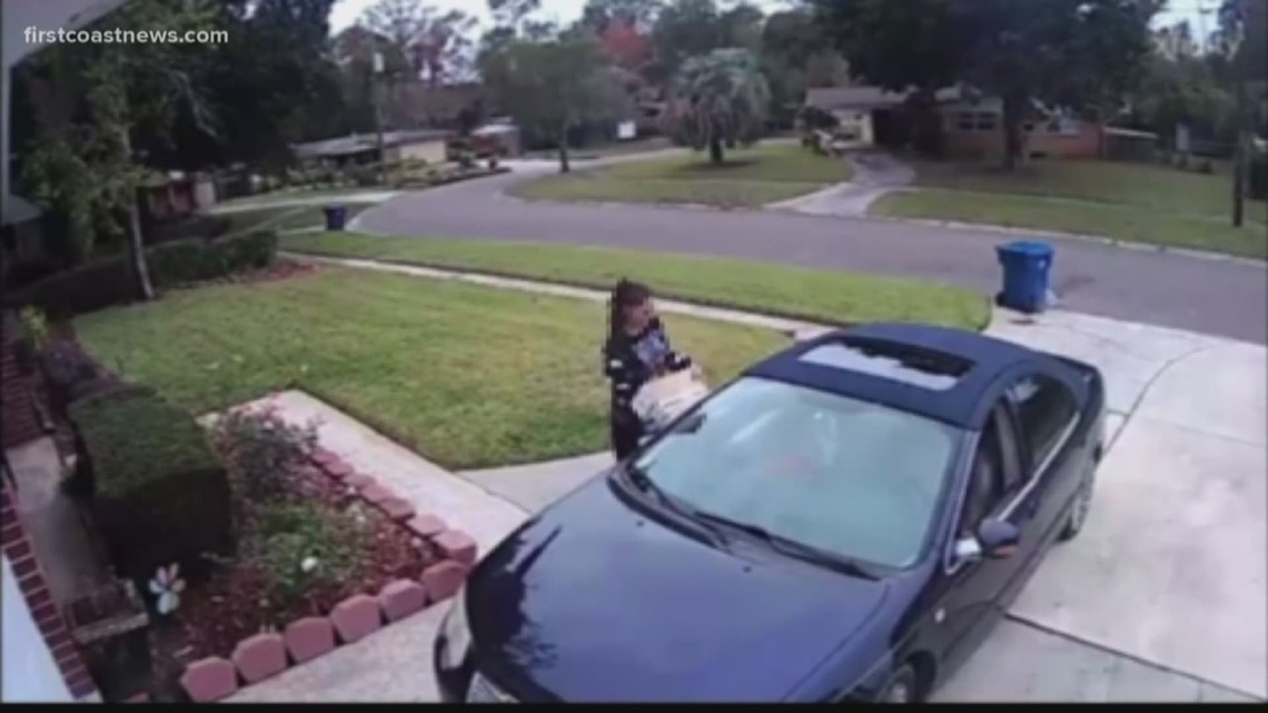 Two packages stolen from porch at Northside home