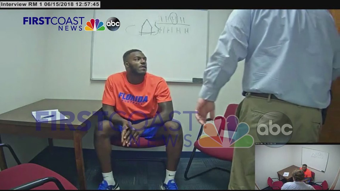 VIDEO ' UF Gators football player tells police about friendship, fight with reported gambler