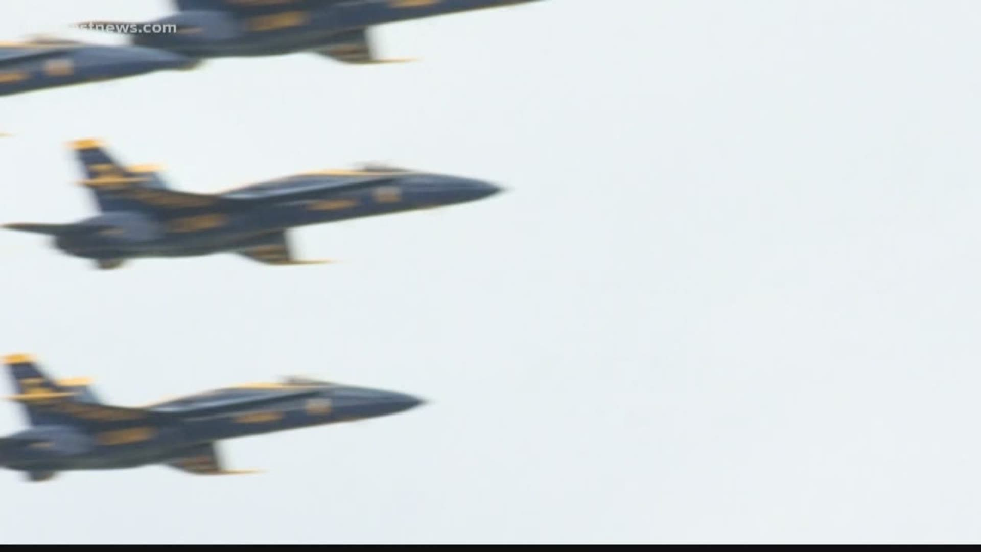 america strong initiative featuring blue angels thunderbirds tentatively scheduled saturday in jacksonville firstcoastnews com blue angels practicing for jax beach air show