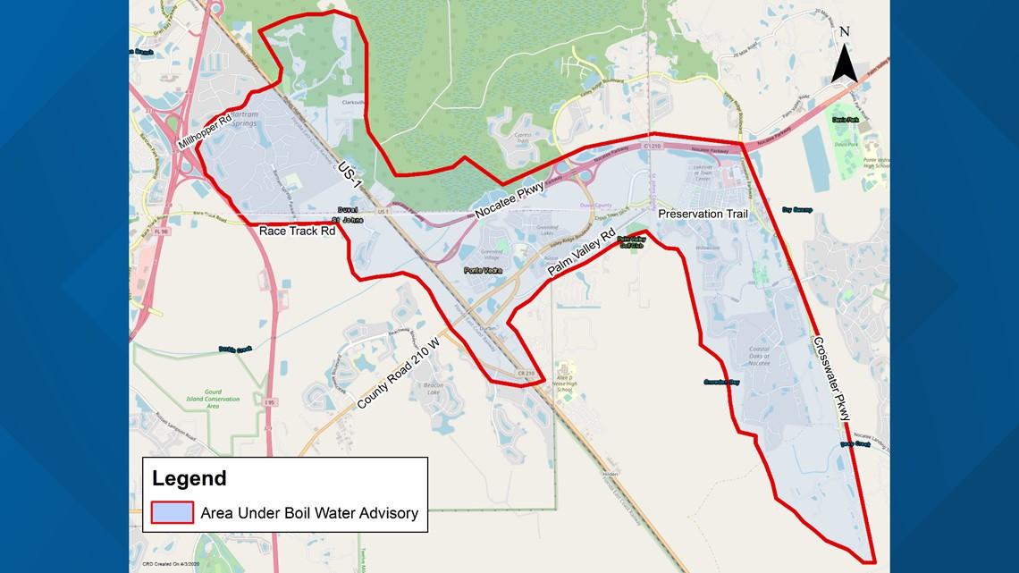 UPDATE: JEA repairs broken water main, boil water remains in effect in Bartram area